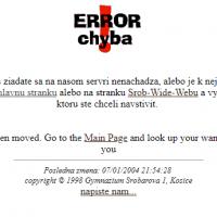 1997: Vznik prvej verzie webovej stránky školy (2/4)