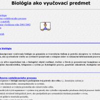 2002: Vytvorenie stránok jednotlivých predmetov (1/4)