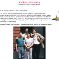 2002: Vytvorenie stránok jednotlivých predmetov (3/4)