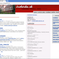 2005: Vznik druhej verzie webovej stránky školy (1/3)
