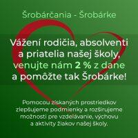 2 percentá z dane pre Šrobárku (1/3)