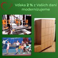 2 percentá z dane pre Šrobárku (2/3)