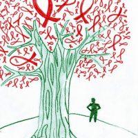 Živá červená stužka na Šrobárke (1/11)