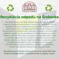 Recyklácia odpadu na Šrobárke (1/5)