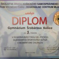 Regionálne finále v badmintone chlapcov (10/10)
