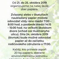 Jesenný zber papiera 2019 (1/5)