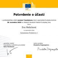 Prekladateľská súťaž Juvenes Translatores (2/5)