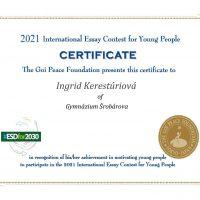 International Essay Contest, Goi Peace Foundation, Japan (1/2)